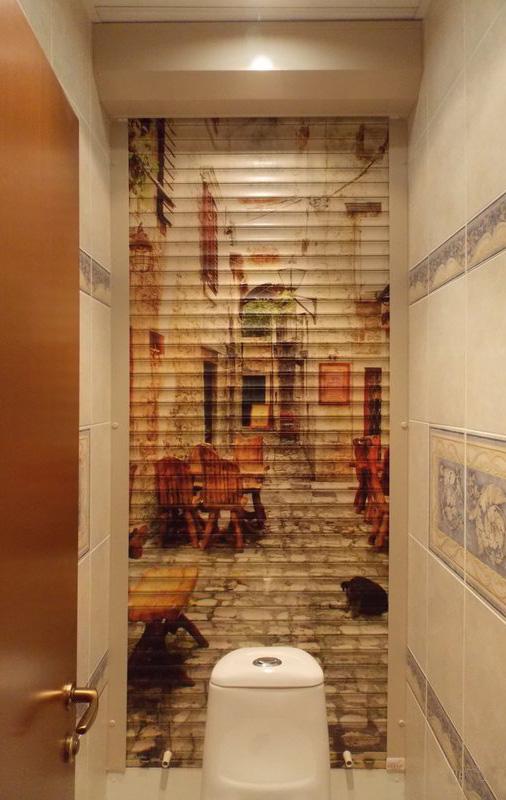 рольставни сантехнический шкаф в туалете